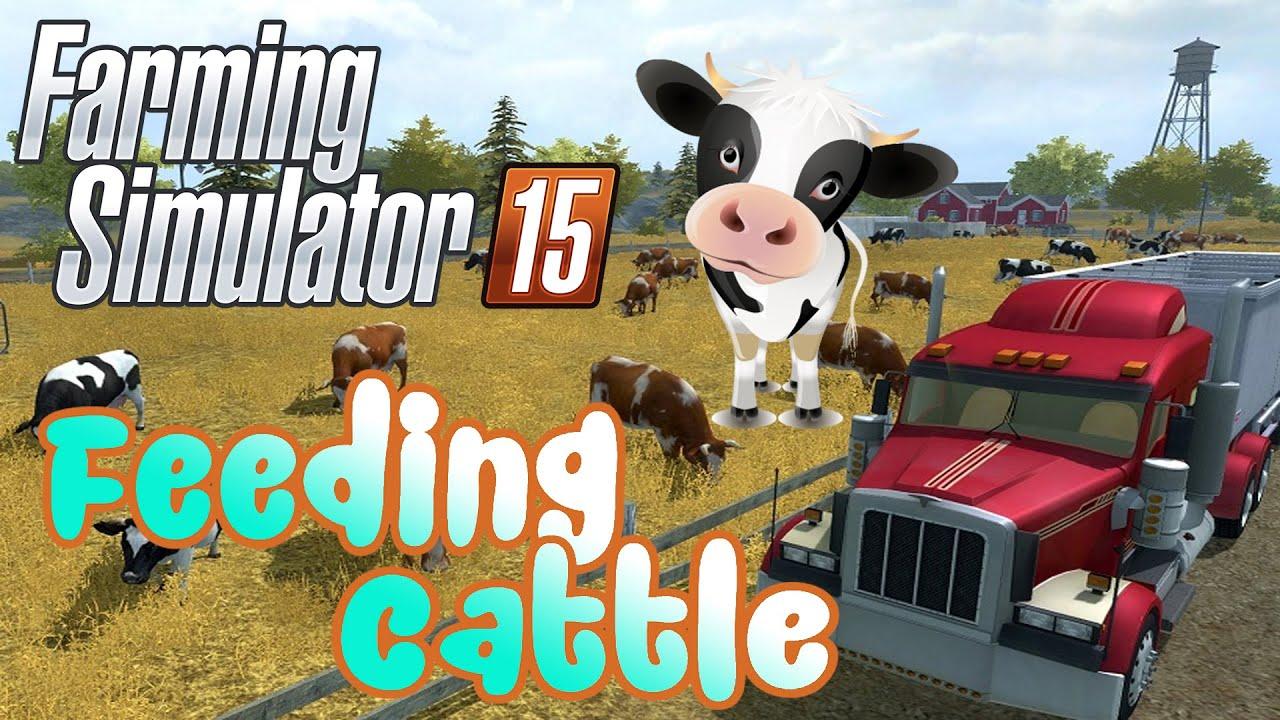 Farming Simulator Feeding And Breeding Cattle Gameplay - Farming simulator 2015 us map feed cows