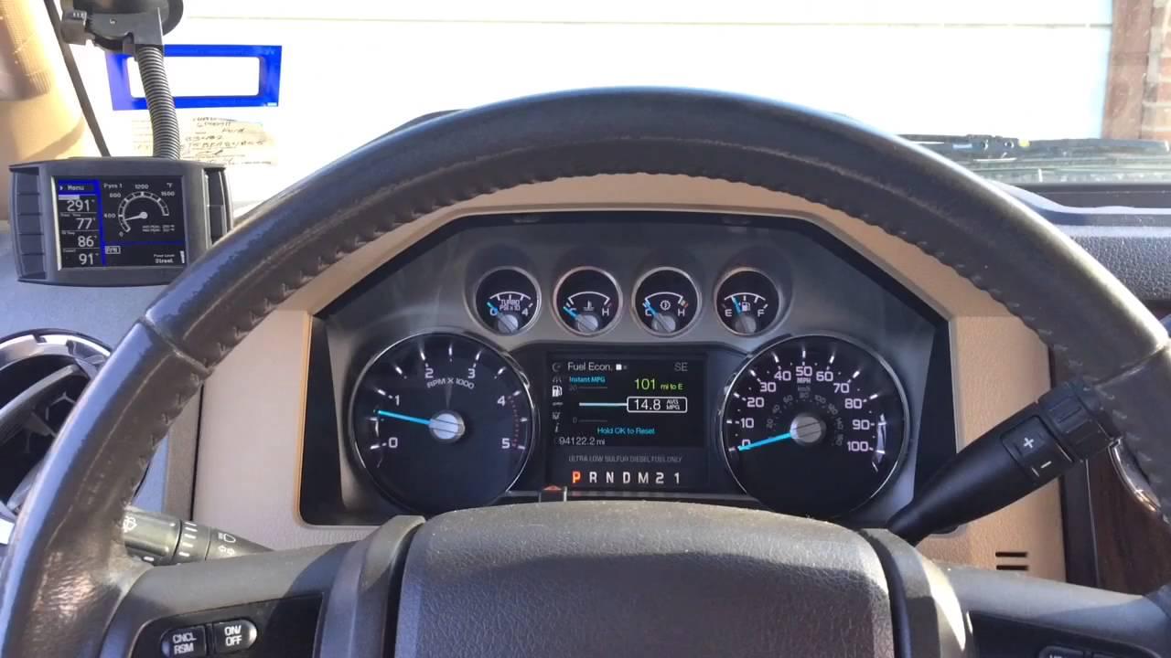 6 7 powerstroke h s 5in flopro aeroturbine muffler cold start in cab driving youtube