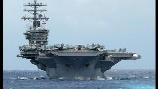 Чудеса инженерии  Авианосец(«Нимиц» ВМС США - самый большой военный корабль в мире - может перевозить до 90 самолётов одновременно, плава..., 2014-01-31T14:41:55.000Z)
