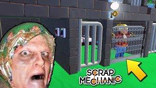�������� ���� БАБУ ЗИНУ ПОСАДИЛИ В ТЮРЬМУ ЗА ШПИОНАЖ !!! РЕАЛЬНАЯ ЖИЗНЬ в Scrap Mechanic !!! ������