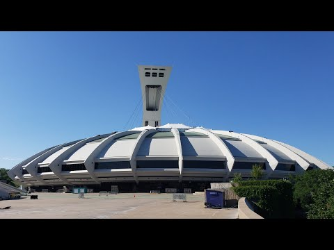 An up close look at Olympic Stadium in Montreal