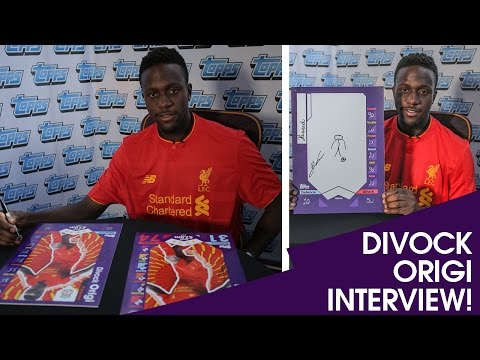 LIVERPOOL's DIVOCK ORIGI INTERVIEW with TOPPS MATCH ATTAX!