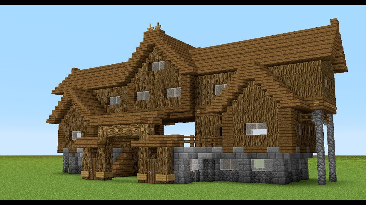minecraft how to build a wooden house