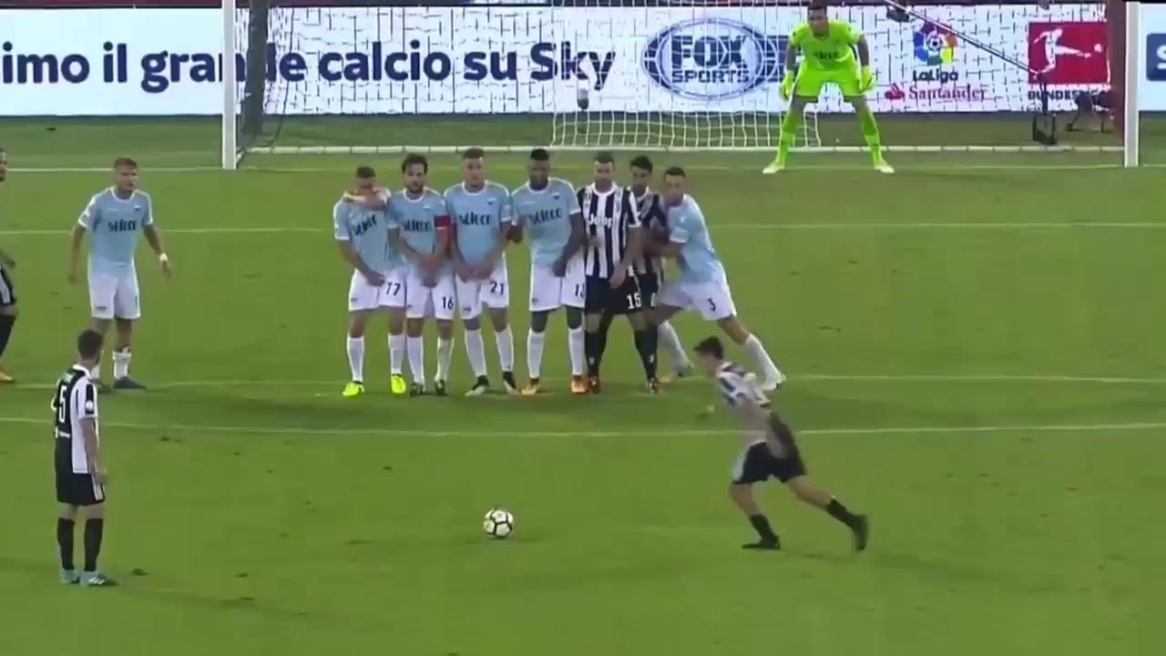 Image result for dybala free kick vs lazio 2017