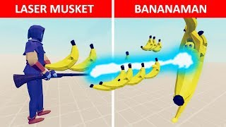 Archer Makes a Laser Musket to Defeat Bananaman - TABS Story- Totally Accurate Battle Simulator Mods
