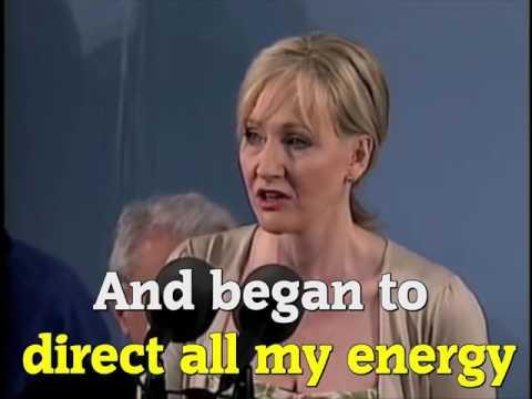 J.K. Rowling's Motivational Speech – Poverty to Fame