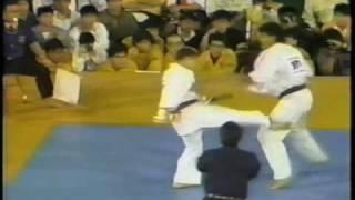 Aderino Silva x Kenji Midori 87 World kyokushin Karate Championship.