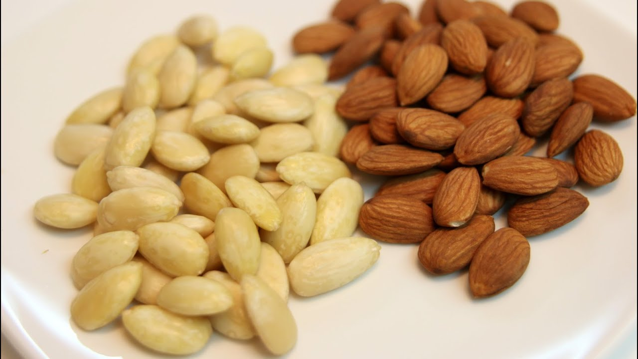 How to blanch almonds! - YouTube