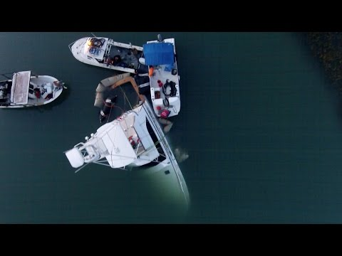 Sunk Boat Salvage process in Murrells Inlet SC (DJI Phantom 2)