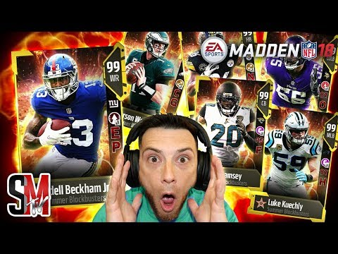 Blockbusters Are Back! Packs, Sets & Solos! Madden NFL 18 Pack Opening