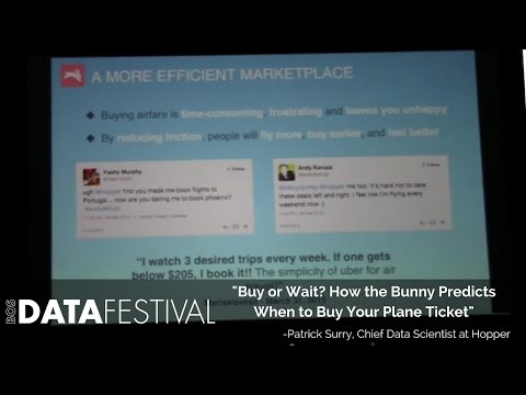 "Patrick Surry at BDF 2015 | ""Buy or Wait? How the Bunny Predicts When to Buy Your Plane Ticket"""