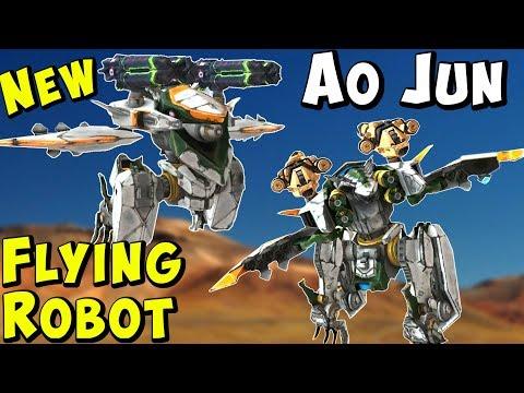 New Flying Stealth Robot AO JUN Test Server Gameplay - War Robots WR