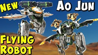 New Flying Stealth Robot AO JUN Test Server Gameplay - War Robots WR