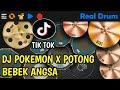 DJ POKEMON DIMANA KAMU X POTONG BEBEK ANGSA  REAL DRUM COVER - TIK TOK VIRAL 2020