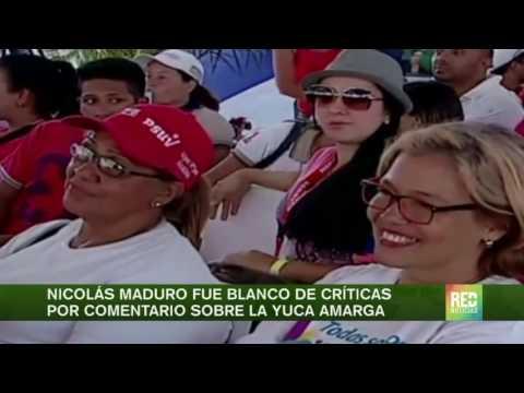 Nicolás Maduro fue blanco de críticas por comentario sobre la yuca amarga