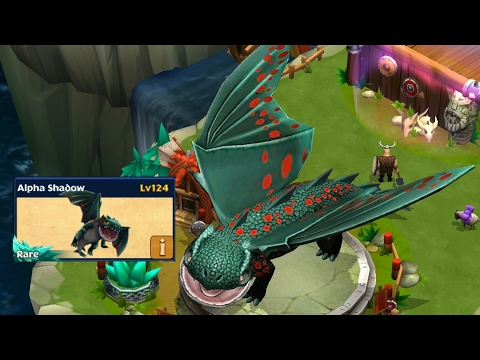 Alpha Shadow max level 124-new rare||Dragons rise of berk new update