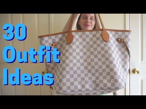 Ways To Wear: Louis Vuitton Neverfull in Damier Azur ~ #30wears challenge