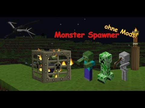 how to get a monster spwaner on minecraft