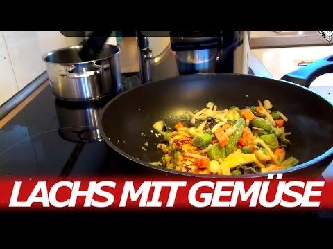 Kochvideo 02 Lachs Mit Süßkartoffeln Gemüse Spinat Youtube
