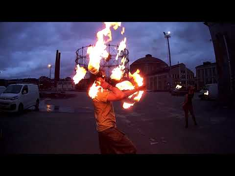 Badass fire artists