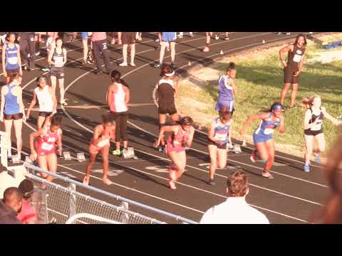 Zahria Jones 100m prelim 2018 Greenville County Championships