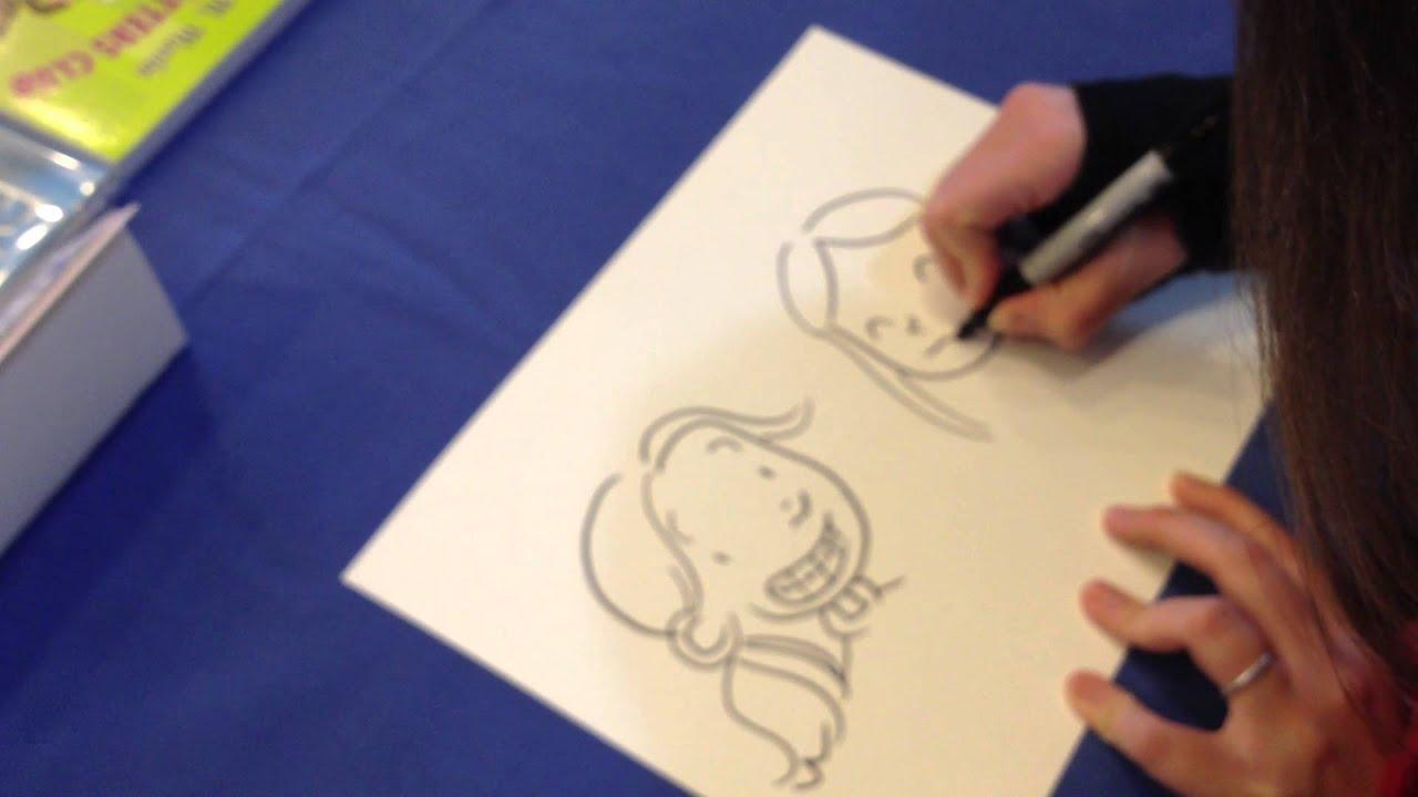 Raina Telgemeier draws Raina from Smile and Callie from ...