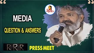 Media Question & Answers For RRR Team | SS Rajamouli | Jr NTR | Ram Charan Tej | Vanitha TV