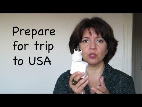 Prepare for Trip to USA