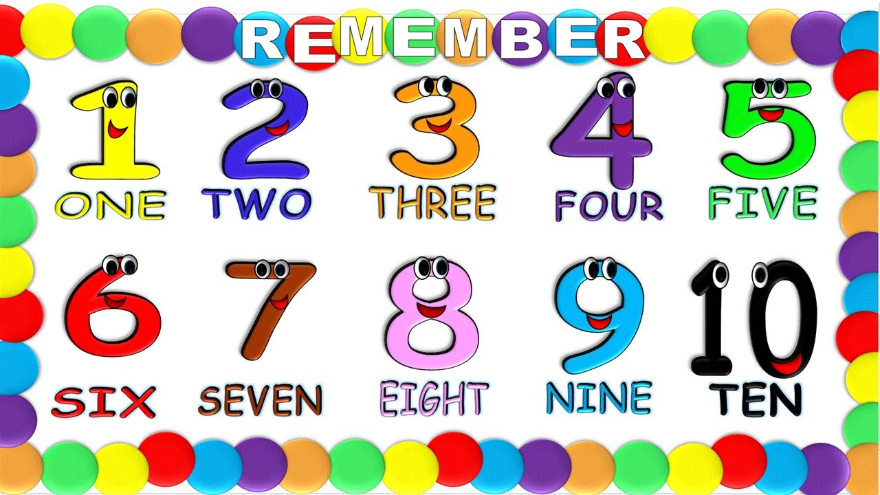 Numbers In English 1 To 10 For Children New Numeros En Ingles 1 Al 10 Para Niños Nuevo Youtube