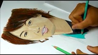 説明どうも!T☆Josephです! 斎藤工描いてみました♪ 下書き、色塗り合わ...