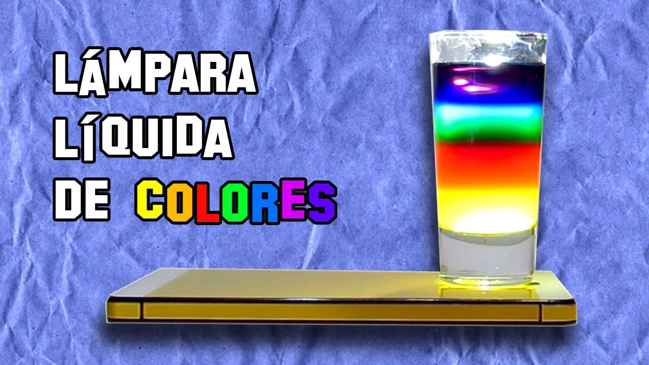 Como Hacer una Lmpara Lquida de Colores  Experimentos