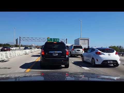 Miami, FL. Driving from Plantation to North Miami