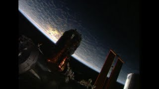 Japanese Cargo Ship Attached to ISS