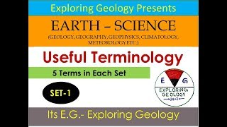 Terminology in Earth Sciences [Set-1]