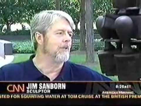 ผลการค้นหารูปภาพสำหรับ jim sanborn kryptos CIA
