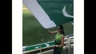 Pakistan viral girl with pakistan flag in asia cup|| pakistan beautiful viral girl in ind vs pak