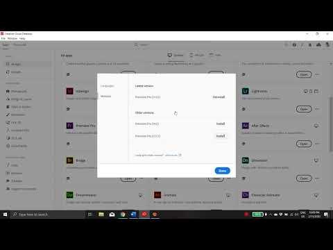 Install previous versions / Change language Adobe CC2020