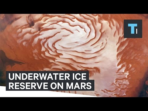 Scientists find giant underground ice reserve on Mars