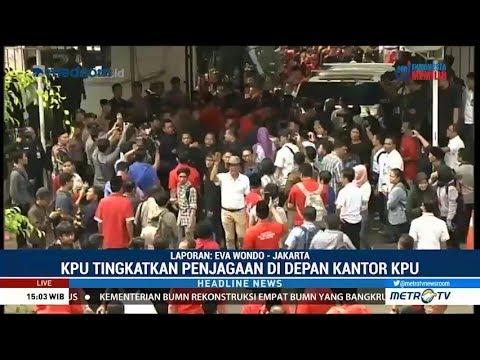 Kader PDIP dan Perindo Bentrok di Kantor KPU