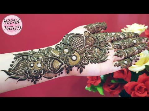 Arabic Henna Design 6 Heena Vahid Youtube