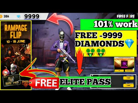 FREE 9999 Diamonds 💎🤑🤑| free ELITE PASS  free fire 😍😍 NEW RAMPAGE EVENT FULL DETAIL FREE FIRE