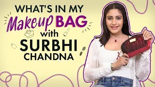 What's in my Makeup bag with Surbhi Chandna| Fashion| Bollywood| Pinkvilla| Sanjivani 2