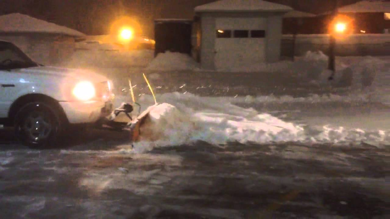 Ford Ranger Plowing Snow Youtube