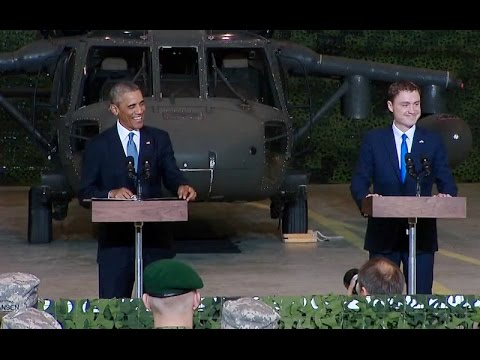 President Obama and Prime Minister Roivas of Estonia Address Servicemembers