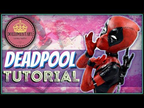 OOAK DEADPOOL REPAINT TUTORIAL   Marvel Custom Doll Figurine Faceup