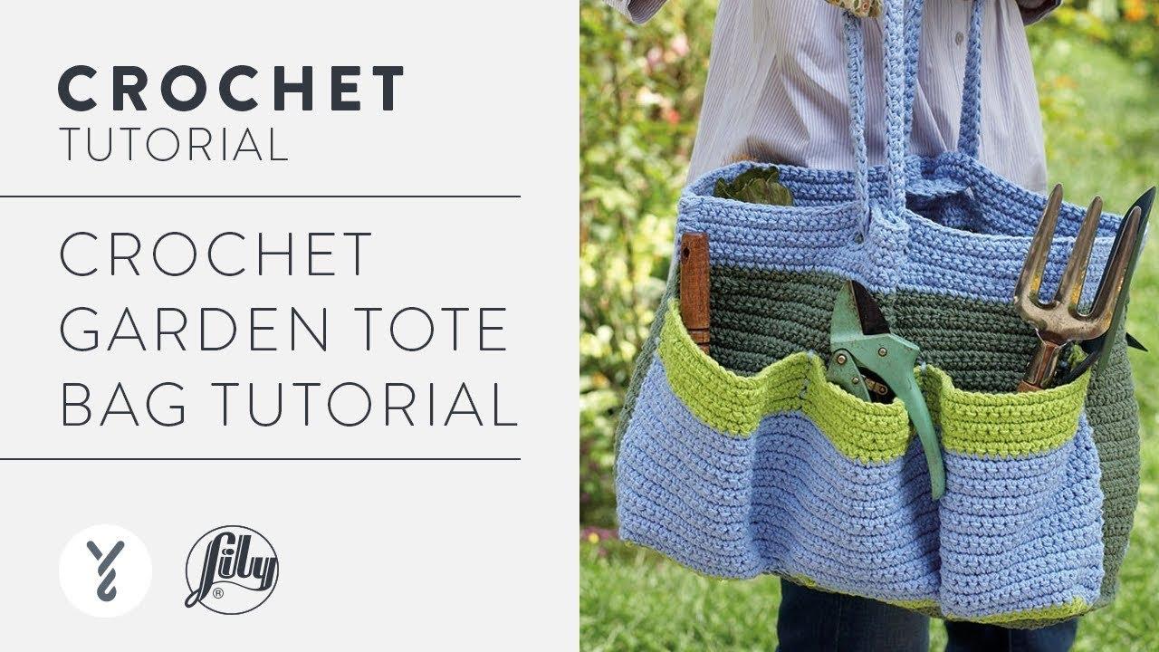 Crochet Garden Tote Bag Tutorial - YouTube