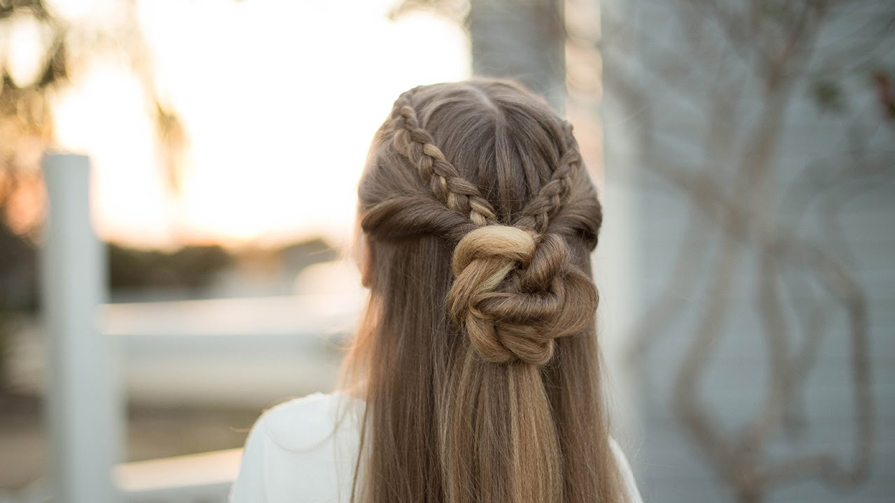Braid bun combo cute girls hairstyles youtube braid bun combo cute girls hairstyles ccuart Images