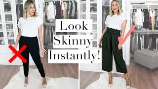 How To Instantly Look Skinny this Fall!