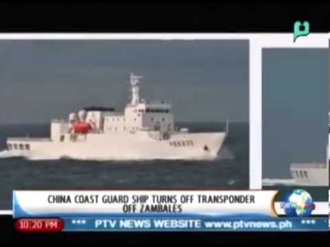 China coast guard ship turns off transponder off  Zambales -  Feb  20, 2014