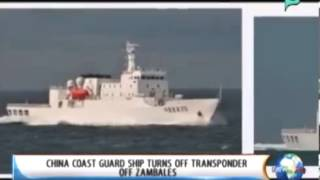 China coast guard ship turns off transponder off  Zambales -  Feb  20, 2014